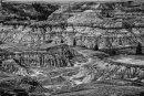 Horseshoe Canyon - noir et blanc