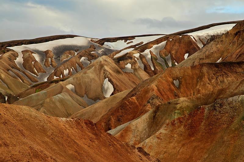 Montagnes du Landmannalaugar - détail