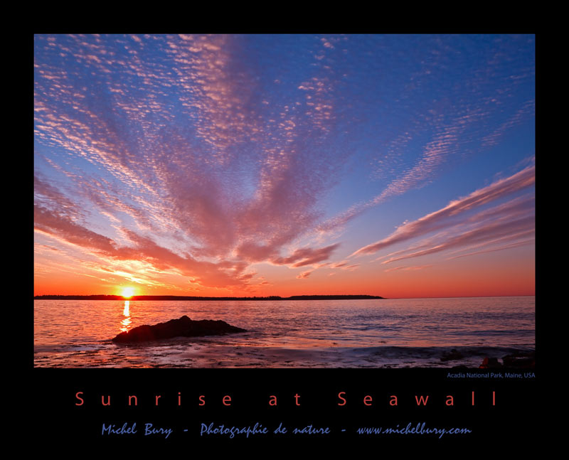 Sunrise at Seawall - Affiche