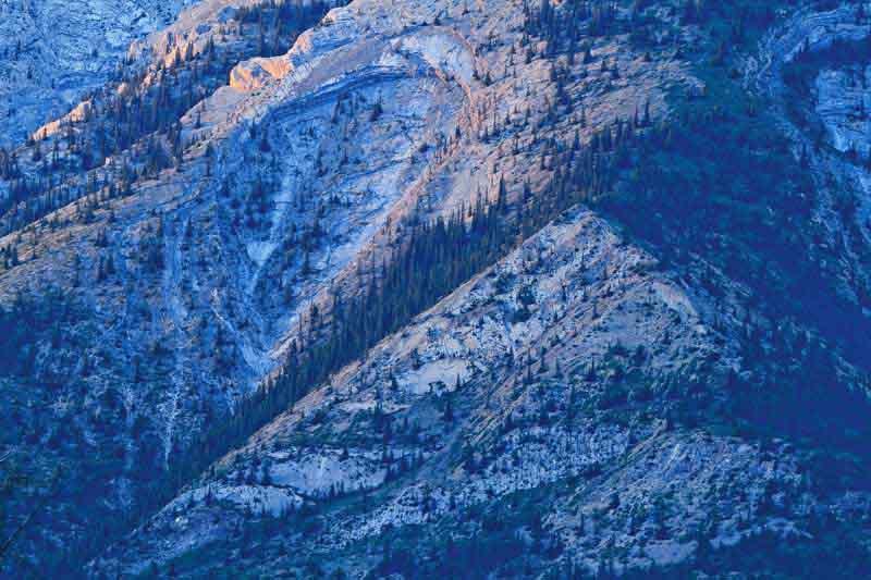 Montagne au coucher du soleil - Détail