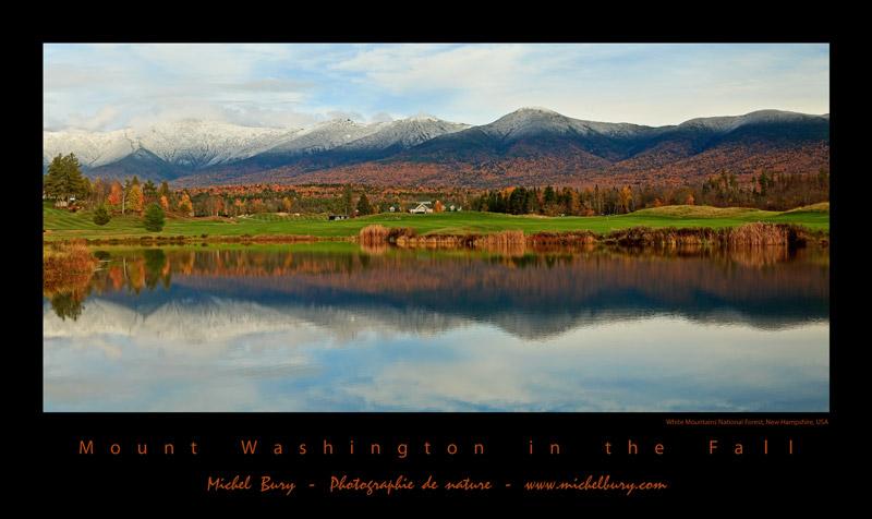 Mont Washington à l'automne - affiche