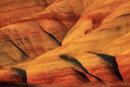 Collines de Painted Hills au coucher du soleil - Détail 1