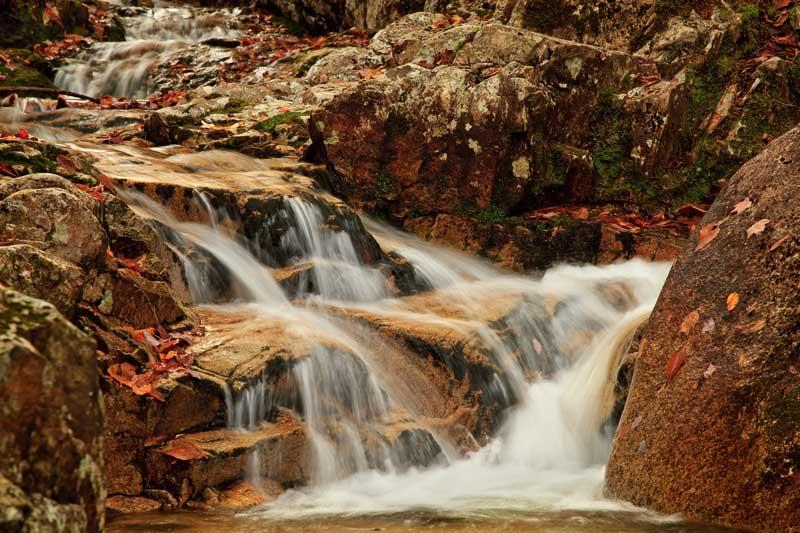 Pearl Cascade à l'automne - détail