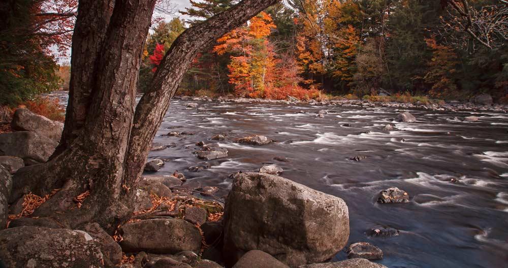 La rivière du Nord à l'automne