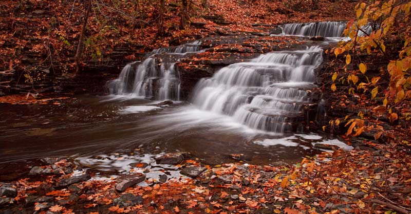 Cascade d'automne