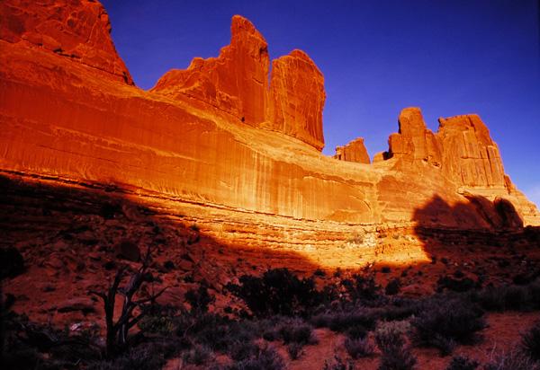 Park Avenue au coucher de soleil - Arches National Park, Utah
