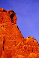 Le sage - Détail de Park Avenue au coucher du soleil - Arches NP, Utah