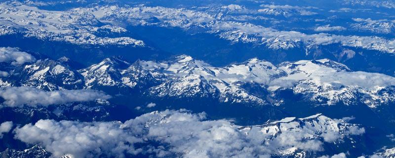 Vue aérienne de l'Alaska