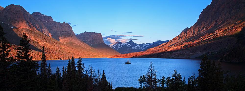 Lac Saint Mary au lever du soleil 1