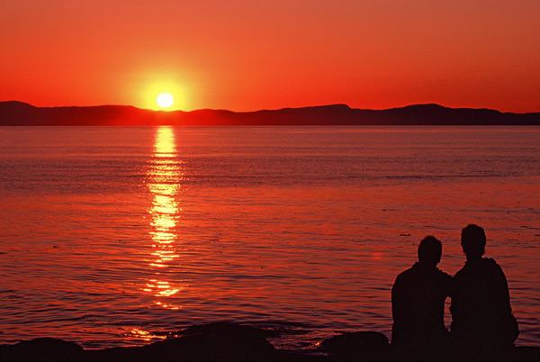 Coucher de soleil - Île Verte, Québec