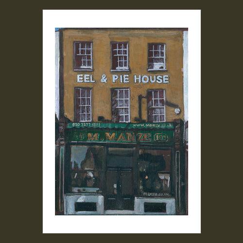 M.Manze Pie & Eel House, Peckham - Limited edition reproduction print - £65 - £120