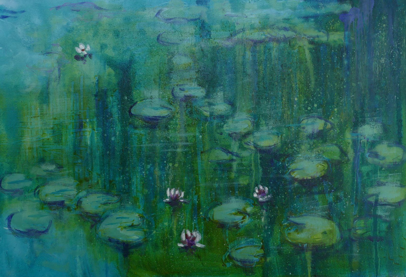 Turquoise Lily Pond