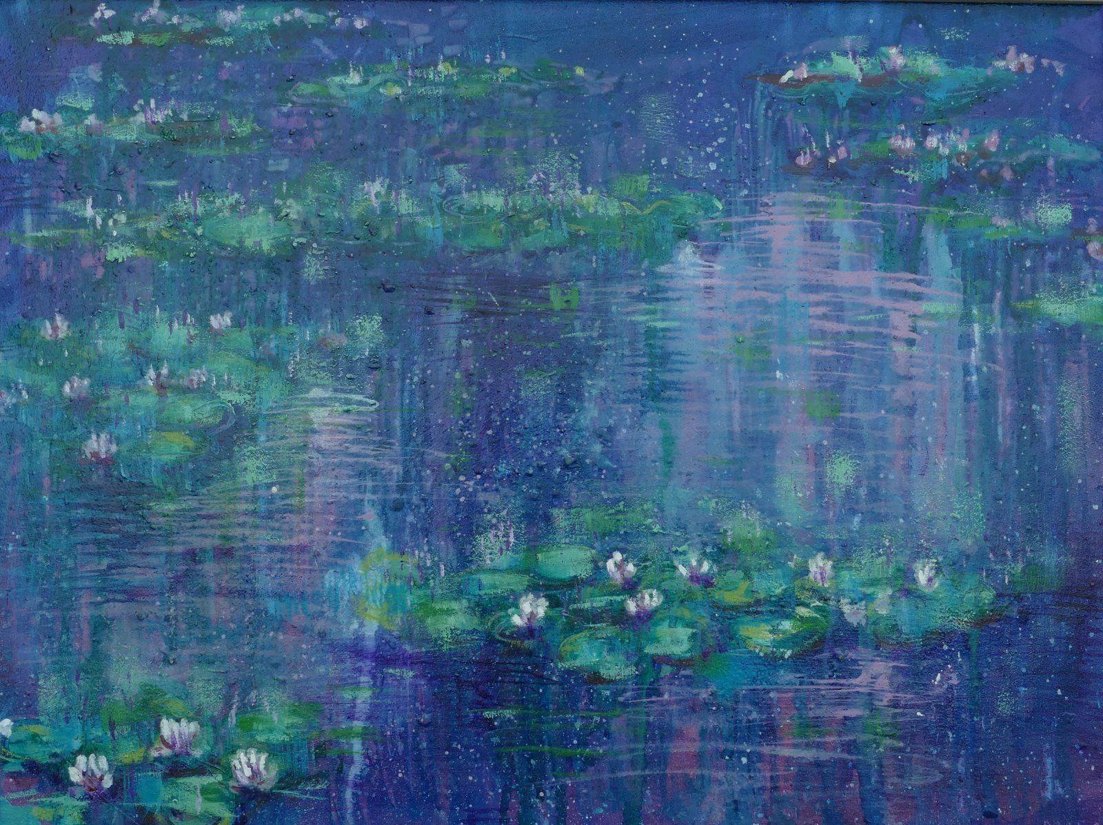 violet pink liliy pond