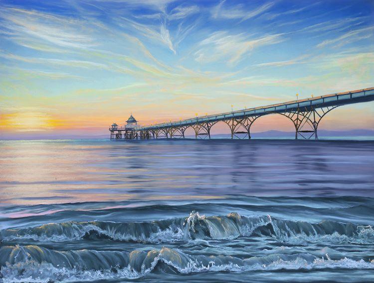 Clevedon Pier 65x50cm framed (SOLD)