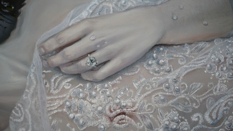 Close up of Ophelia's hand in Swan Song