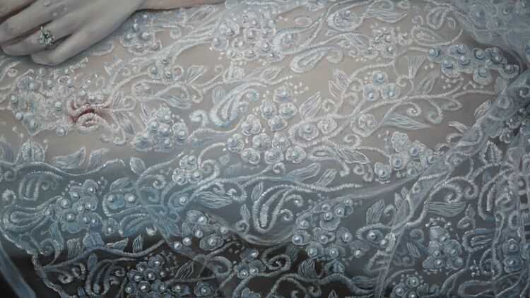 Another close up of the lace in Swan Song
