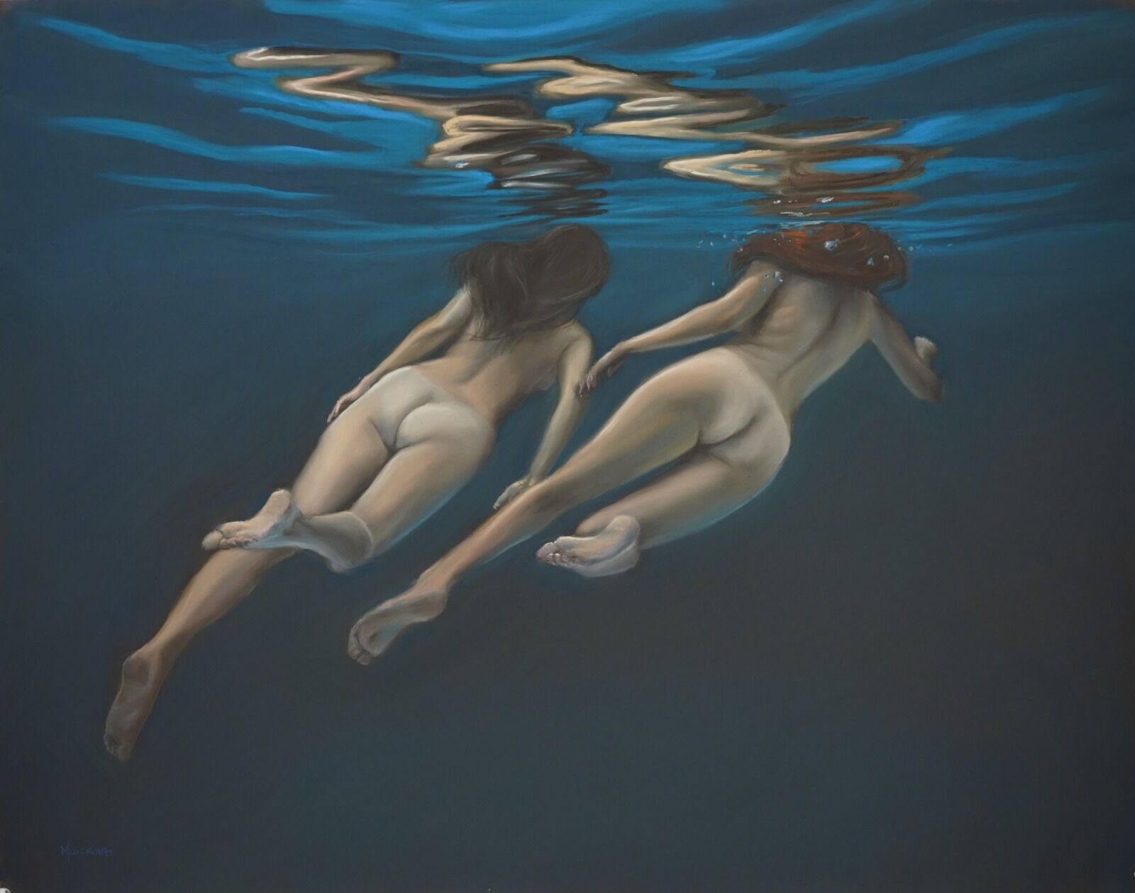Moon Sisters, soft pastel, 68x52cm, £2200, SOLD