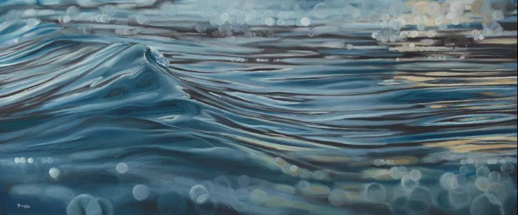 St Ives Glass i, 91x38cm, SOLD
