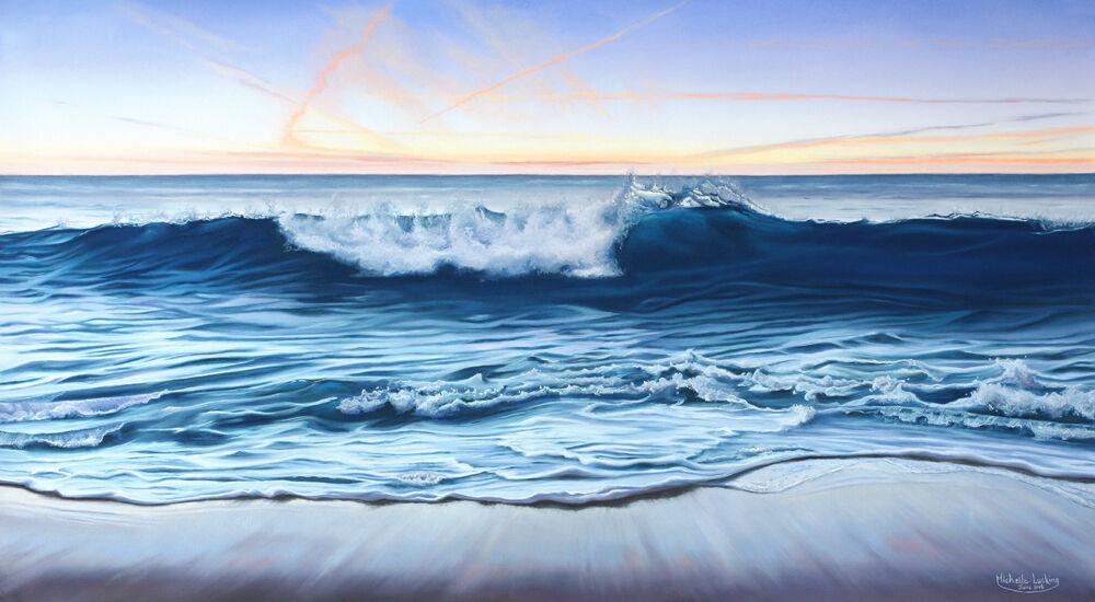 twilight wave, 100x61cm