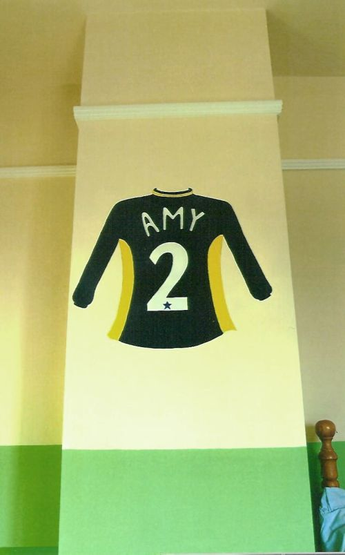 Amy's football player number