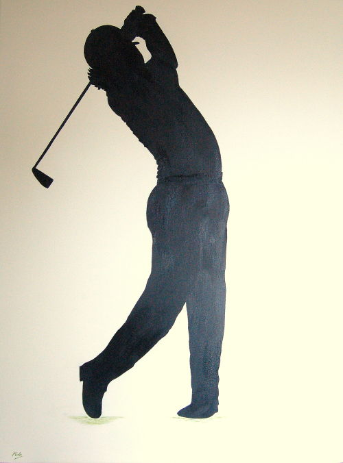 Silouette of Rory McIlroy