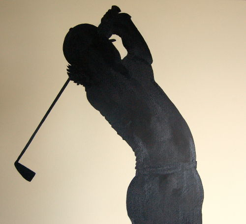 Silhouette of Rory McIlroy (Close up)