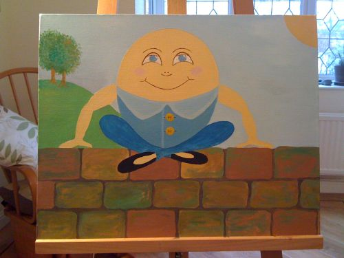 My second Humpty canvas