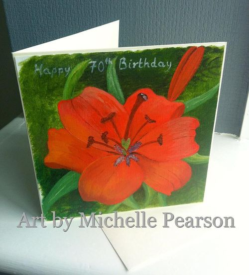 Hand painted birthday card