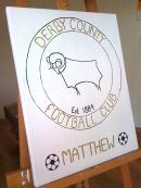Derby County Football canvas
