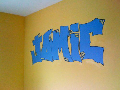 Jamie in graffiti style lettering