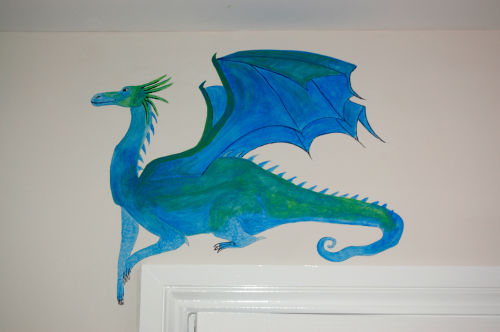 Dragon over doorway