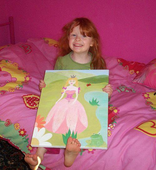 'Pretty in Pink' Tara...runner up of the KidsCanvas Children in Need raffle.