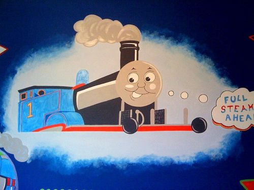 Thomas The Tank Engine bedroom ~ designed to match a limited edition bed set.