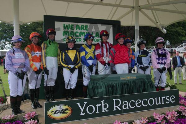 Macmillan Charity Race Jockeys 2013 (130615)