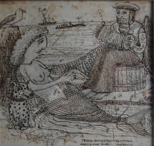 Thomas Hatcher Mermaid Catcher and His Dog Dick