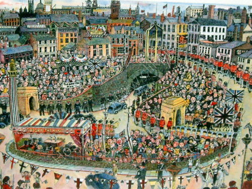 The Opening of the Mersey Tunnel