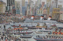 The Arrival of the Queen in New York on her Maiden Voyage from Southampton