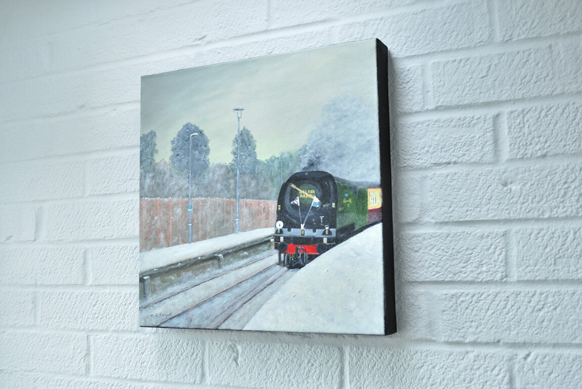 'Golden Arrow at Snowy Ore Station'....hanging