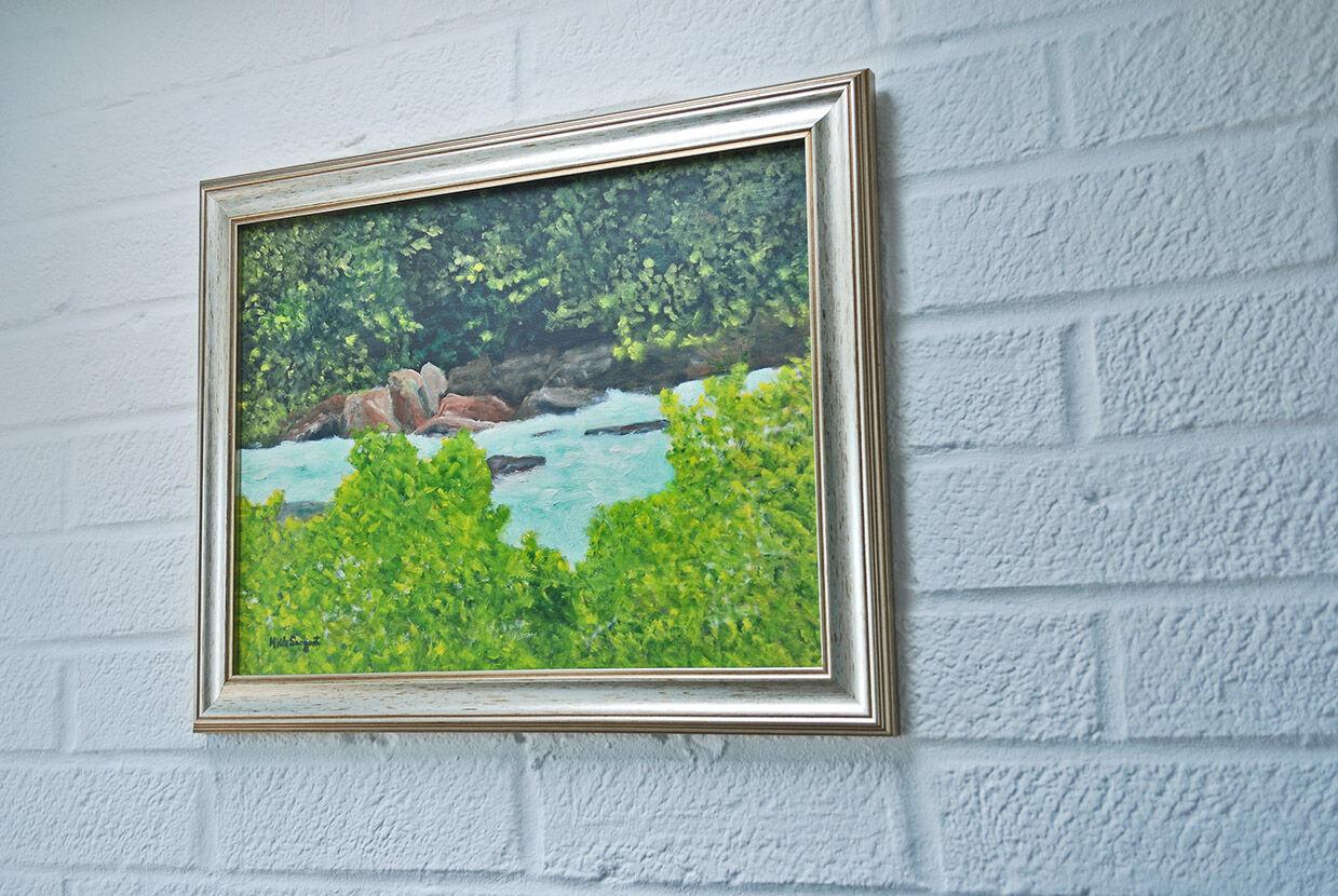 'Italian Mountain Stream'.....side view hanging