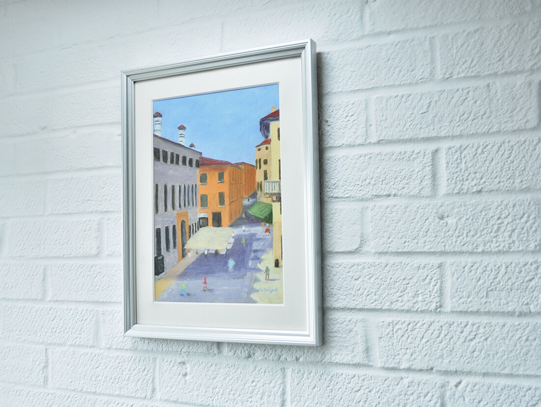 'Another Sunny Day in Verona' framed.