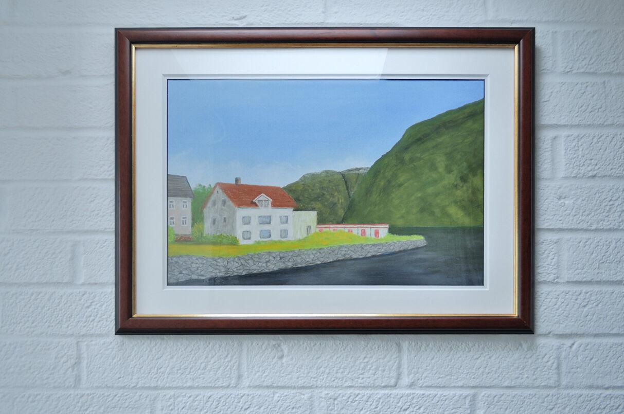 'Norwegian Summer' framed