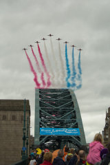 Red Arrows over Tyne Bridge