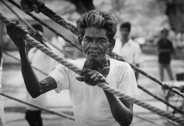 Chinese Net Fisherman<br>Cochin<br> India