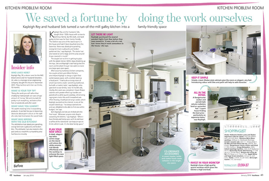 New Kitchen Feature<br>Your Home Magazine