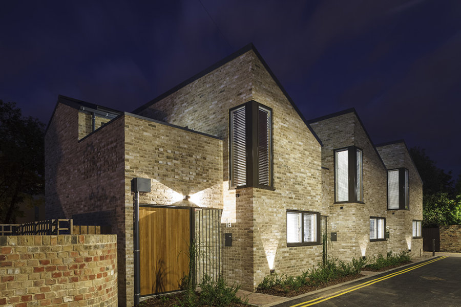 Eden Street Backway Night<br>Cambridge<br>DPA Architects