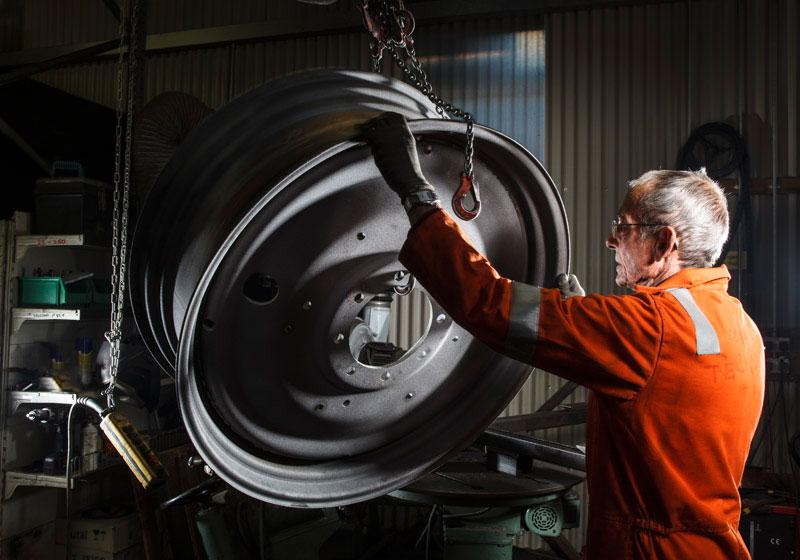 Wheel Refurbishment<br> Bill Ditchfield Creative for<br>J. Brock & Sons