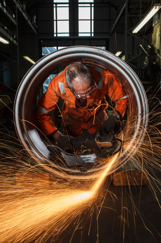 Wheel Refurbishment<br> Bill Ditchfield Creative for<br>J. Brock & Sons