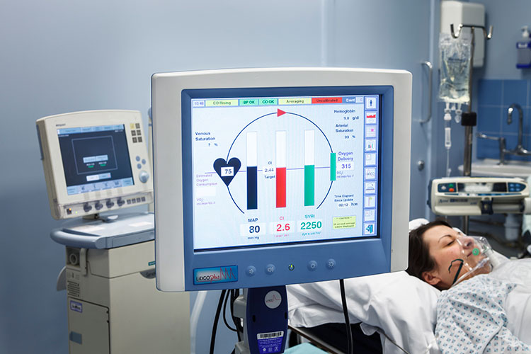 Lidcoplus Haemodynamic Monitor<br>Addenbrookes Hospital<br>Red Graphic Cambridge