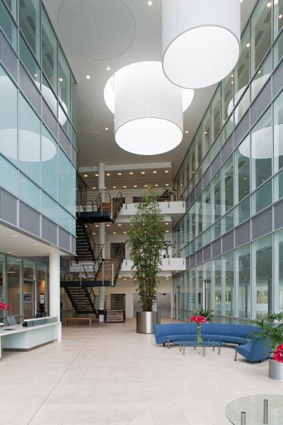 Atrium<br> One Zero One<br>Cambridge Science Park