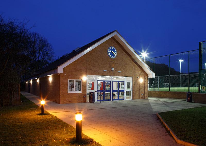 Sports Pavillion<br>Shenfield High School<br>Wilby &amp; Burnett